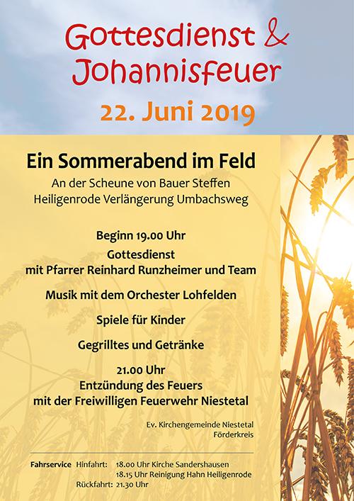 Johannisfeuer Ev. Kirche Niestetal 2019
