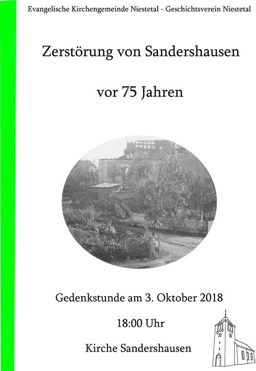 75 Jahre Zerstörung von Sandershausen