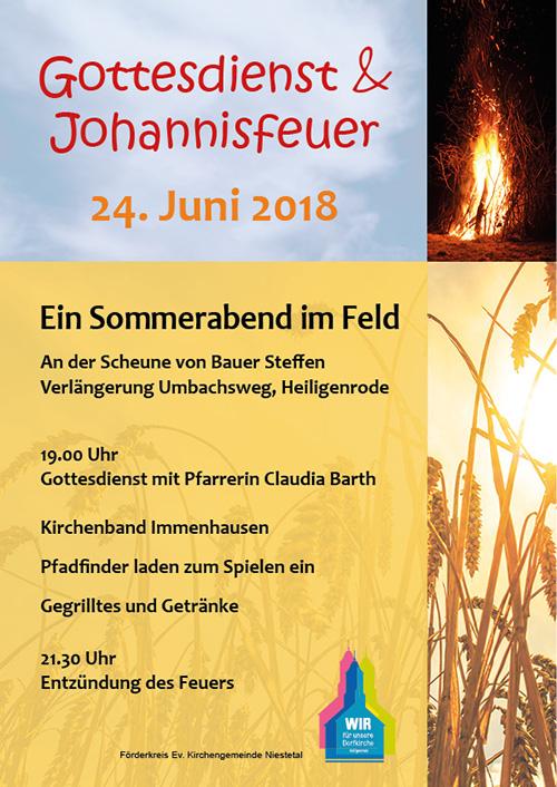 Johannisfeuer Ev. Kirche Niestetal 2018