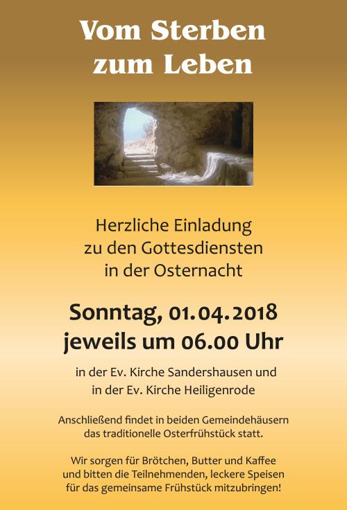 Einladung Osternachtgottesdienst