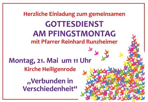 Einladung Gottesdienst Pfingstmontag